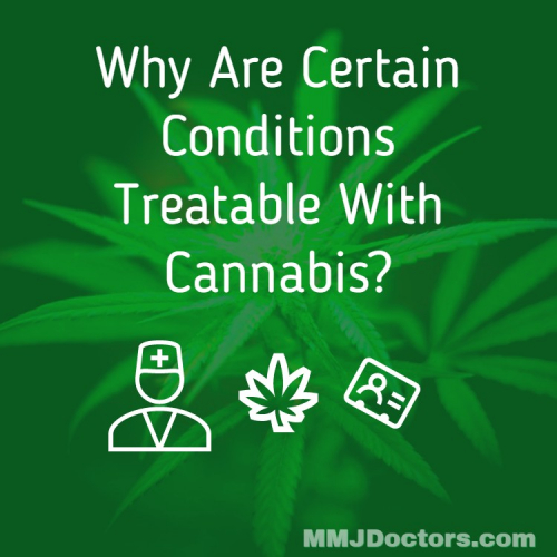 Why are certain conditions treatable with Cannabis?