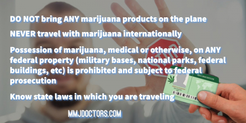 Rules of traveling with marijuana